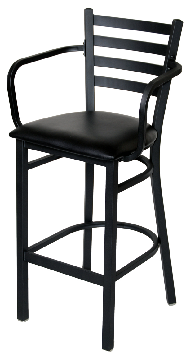 bar stools with arms Ladder Back Metal Bar Stool With Arms bar stools with arms