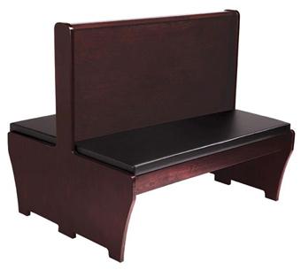sc 1 st  Restaurant Furniture Supply & Wood Bench with Padded Seat u0026 Wood Back islam-shia.org