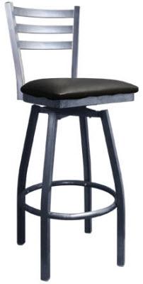 3 Slat Metal Ladder Back Swivel Bar Stool