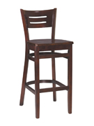 Henry Wood Bar Stool