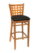 Lattice Back Bar Stool
