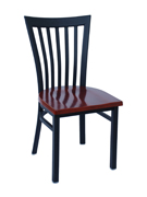 Elongated Vertical Back Chair