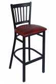 Vertical Slat Metal Bar Stool
