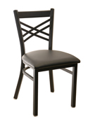 X Back Metal Chair