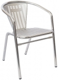 Aluminum Sandblasted Patio Chair with Arms