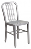 Patio Metal Chair in Silver Finish
