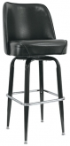 Swivel Barstool with Black Coated Frame