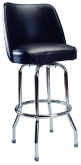 Chrome Swivel Barstool with a Single/Double Ring