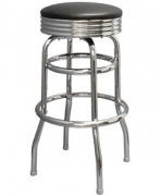 Swivel Bar Stool with a Single/Double Ring